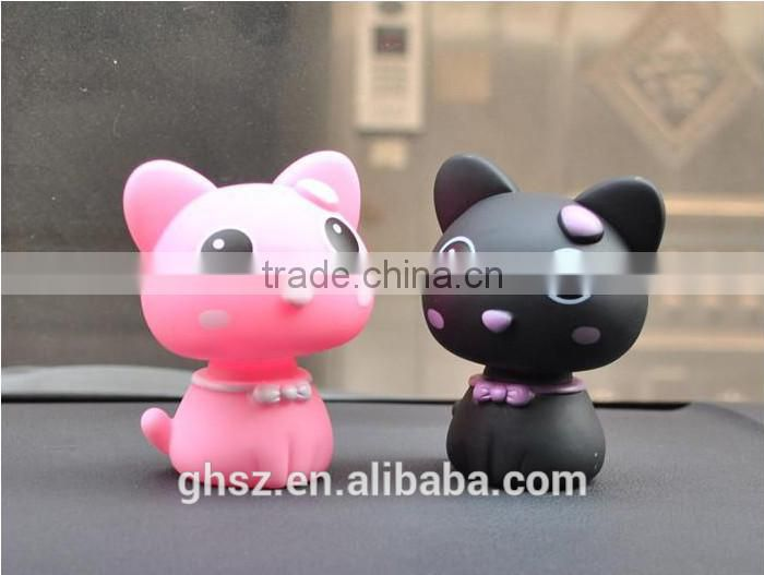 Guo hao custom cat resin pvc keychain for decoration