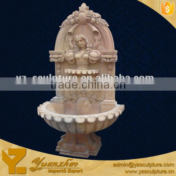 Elegant antique indoor Wall Fountain With a Beautiful Nude Lady