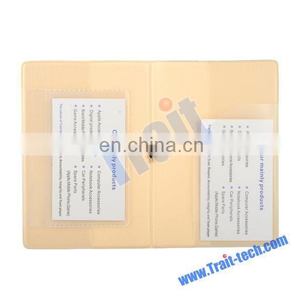 Promotional 14x9.5cm Traveling Flip Plastic Passport Holder With Elastic Band