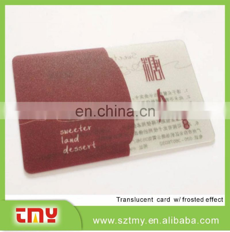 Professional design visiting card transparent business card