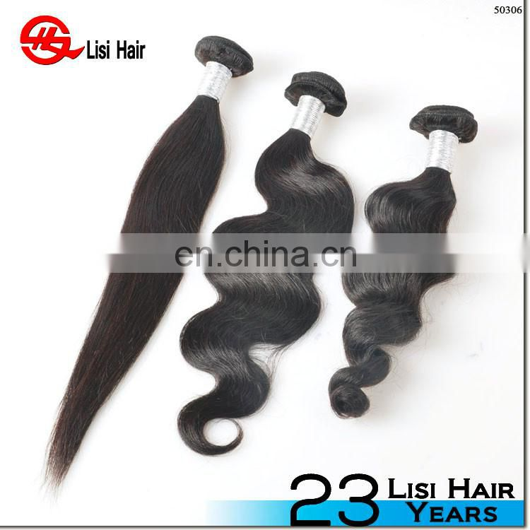 Most Popular Unprocessed Can Be Dyed Top Quality Indian Remy Human Hair Weaving