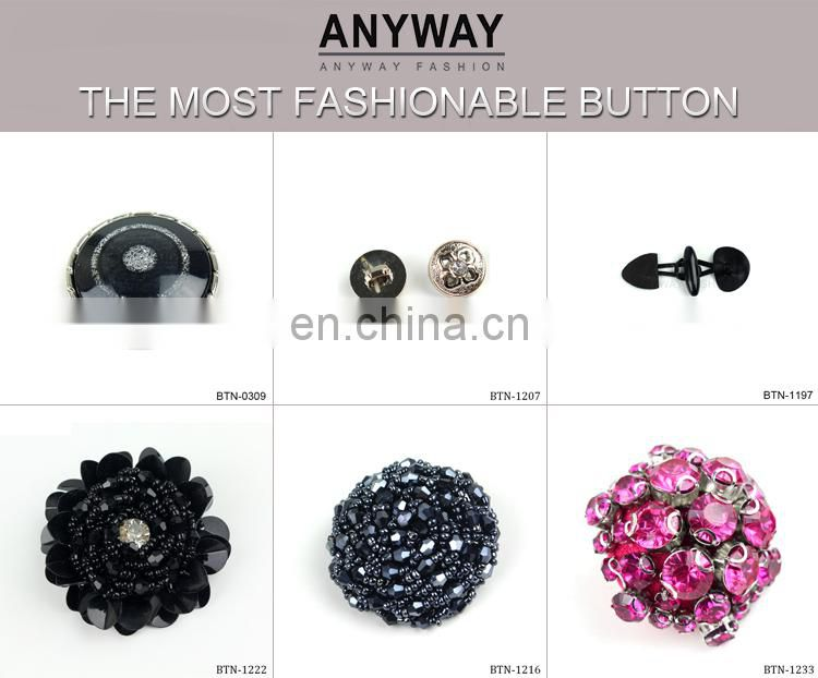 Fashion metal wedding crystal rhinestone button invitation button