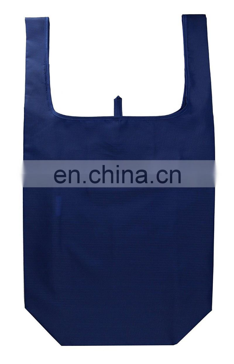 Reusable folding polyester folding shopping bag