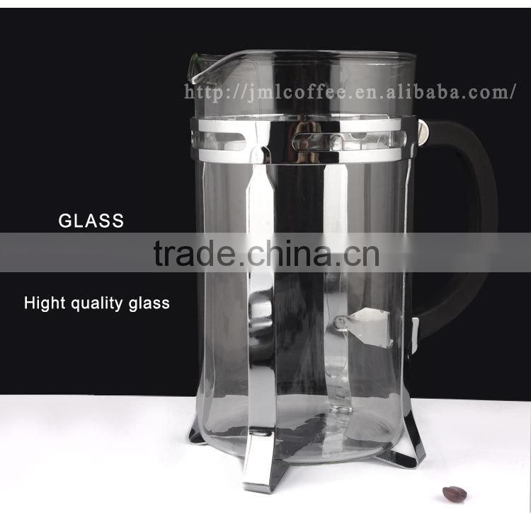 hot sale coffee press with stainless steel, chrome plated coffee plunger, coffee pot 350ml