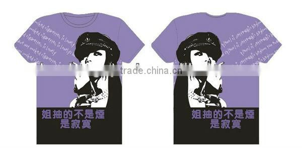 latest custom printing DIY t-shirts with high quality