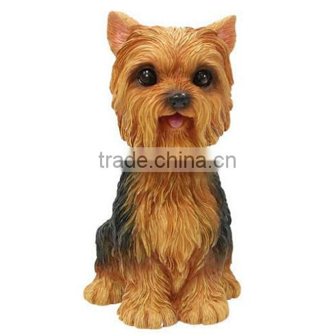 custom make plastic bobble head dog toys with shaking head,customized dog shape bobble head toys