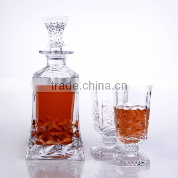 High quality wine decanter and whisky cup set , New arrival wine glass bottle