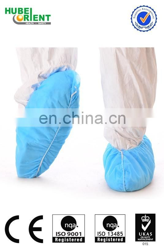 Anti slip pp disposable shoe cover with elastic for hospital
