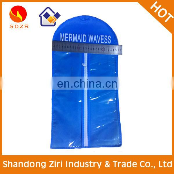 Wholesale China Waterproof custom clear zip lock hair extension bags