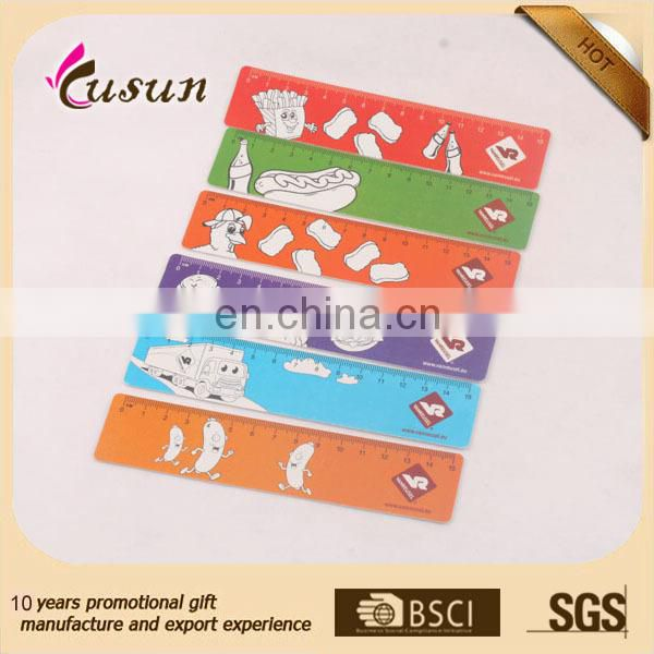 Promotional custom plastic soft PVC ruler 15CM size ruler