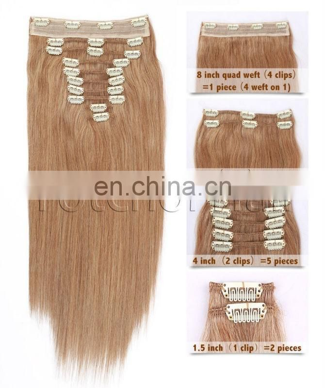 Professional Hair Long Lasting Wholesale Clip In Colored Hair Extensions