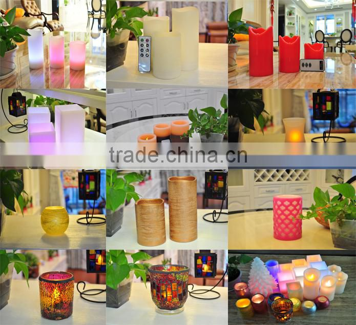 LED Candle moving wick Color Changing Wedding Party Xmas Decor light Flameless Lights Cup