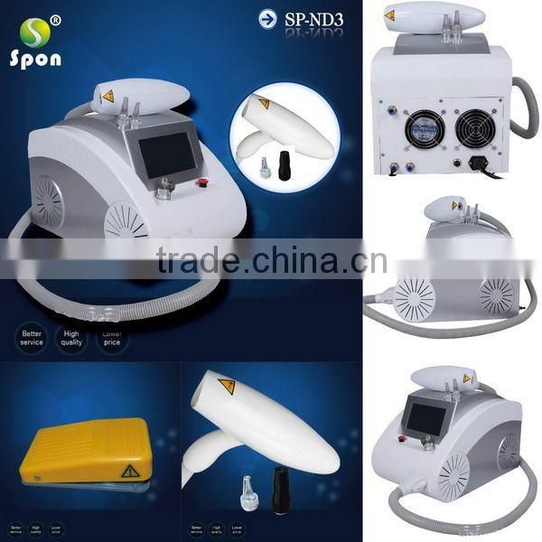 2015 Popular Q switch nd yag laser for tattoo removal