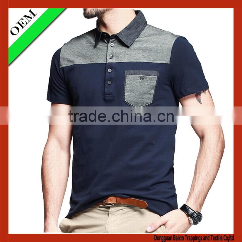 high quality fashion polo shirt With Short Sleeve
