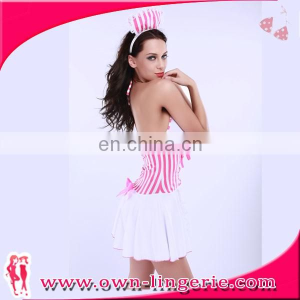 Japanese Maid Costume Pattern sexy maid pink dress halloween lady's cosplay of