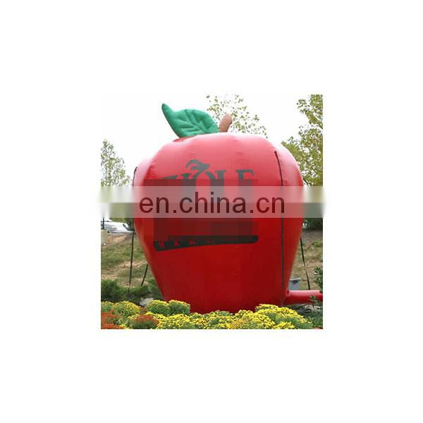 popular inflatable fruits giant inflatable apple shape for advertising