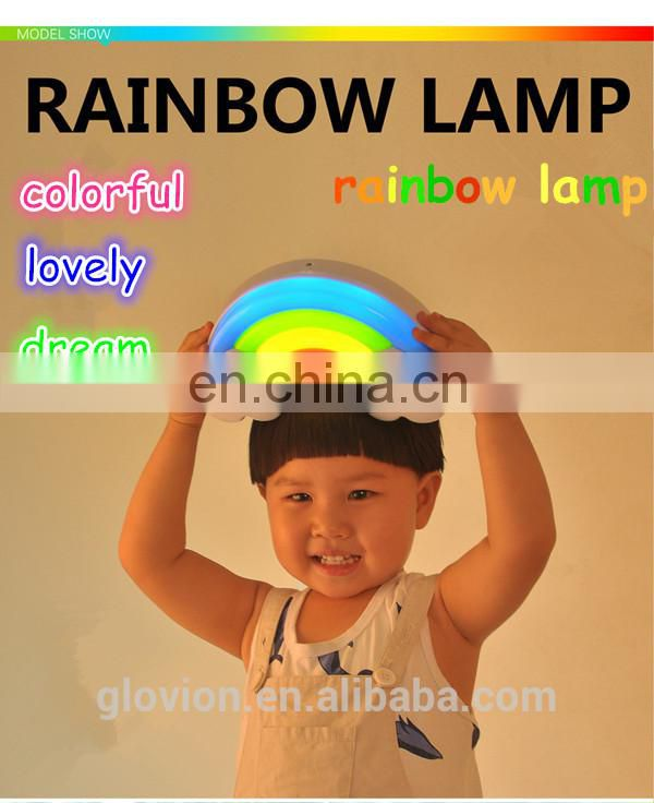 Cute desk lamp for baby sleep sound and light control wall sticker light multi-color novelty decorative bedroom lamp