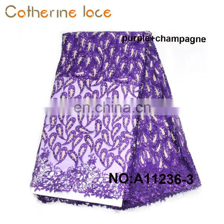 Catherine Innovative New Products Embroidery African Flower Lace Dress Fabric