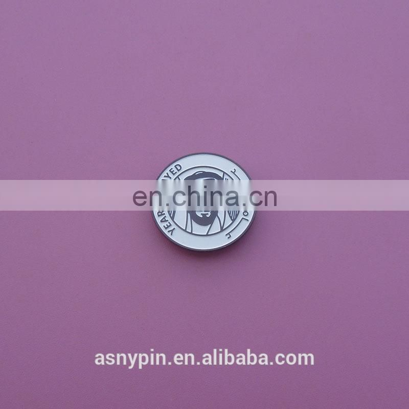 wholesale UAE 2018 magnetic lapel pin for clothing year of zayed badge made in China