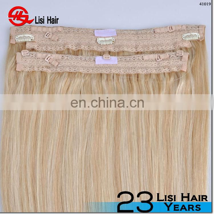 Piano Colors Halo hair extensions invisible Miracle Wire hair pieces