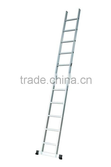 One-section step single straight aluminum ladder
