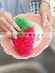 Kitchen Cleaning crochet cotton Sponge Scouring Pad