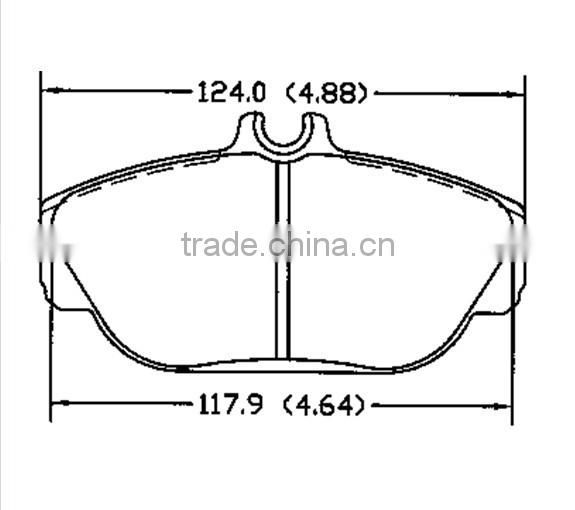 D601 OE3018001 for FORD Lincoln brake pad manufacturer                                                                         Quality Choice Image