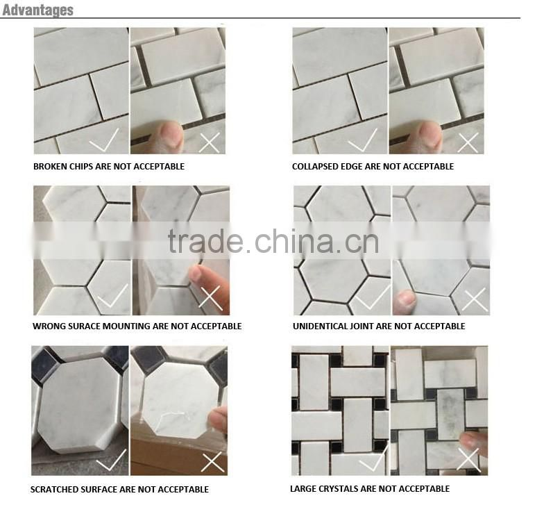 IMARK Irregular Shape Emperador and Beige Color Marble Stone Mosaic Tile With Natural Face Code IVM7-011