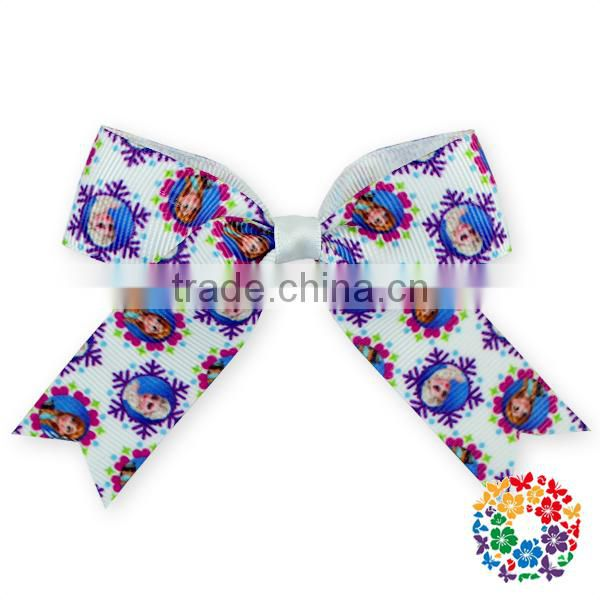 New Holiday Hair Bow with Clip Boutique Heart Print Baby Hair Accessories