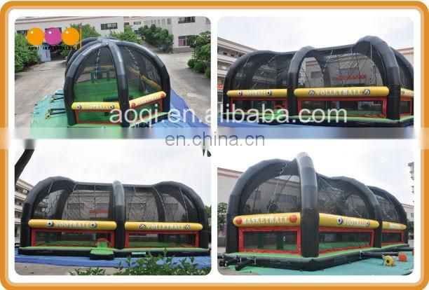 Novel inflatable soccer pitch wide football court inflatable playground for kids and adults