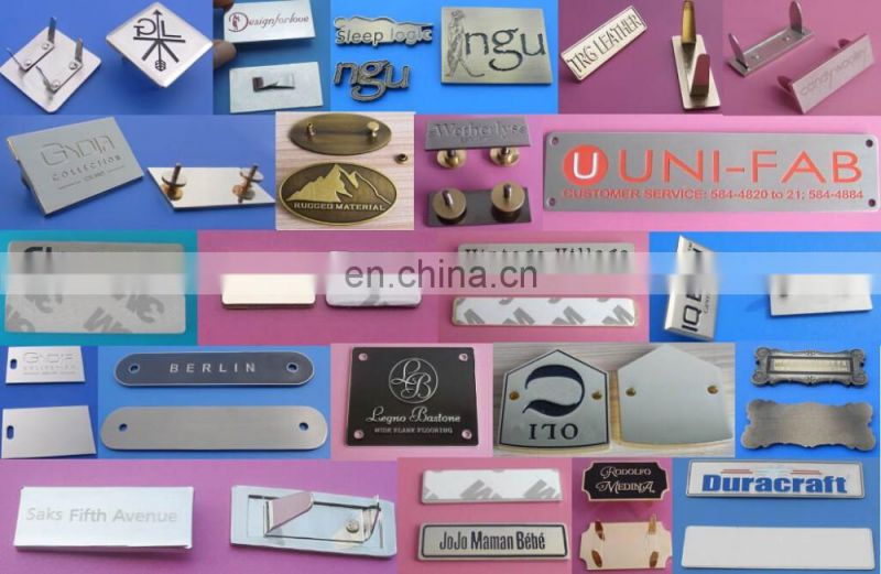custom engraved your own logo name plate/company name logo metal plate