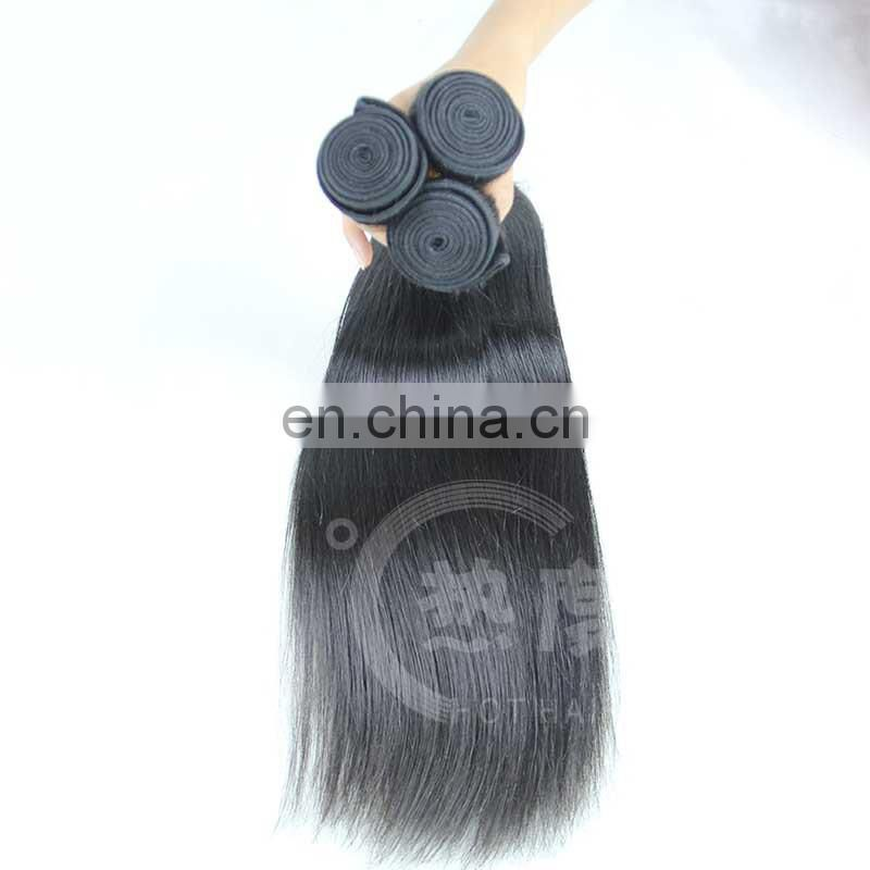 100% natural stright indian human hair weaves