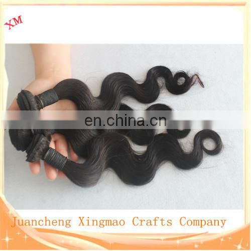 HOT Selling 50g/piece Unprocessed Hair Extension Black Color for black Women