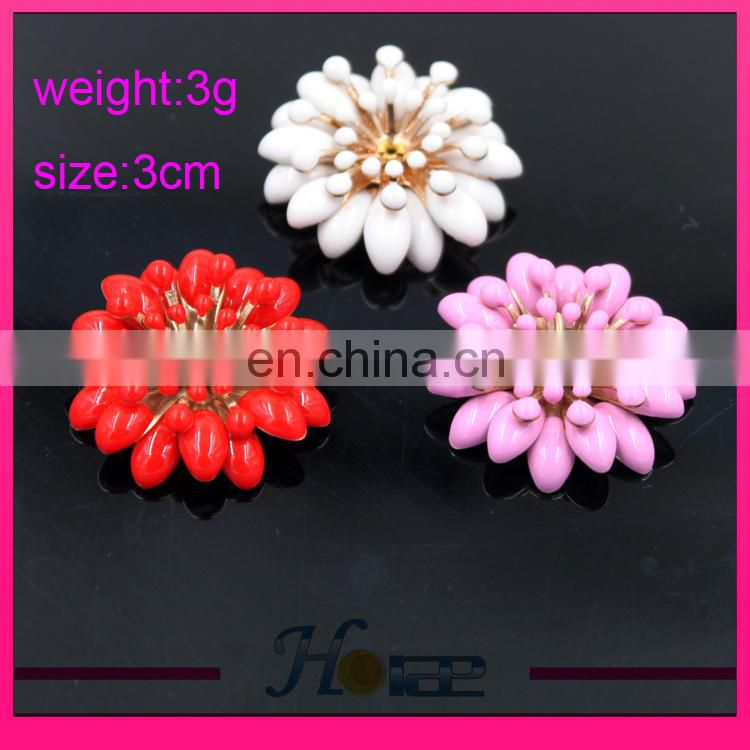 New rhienstone shoe buckle colorful flower loose beads for shoe and bag decoration