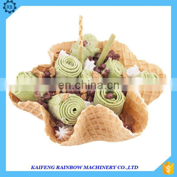 High efficiency and energy saving fry ice cream machine with CE certificate for sale