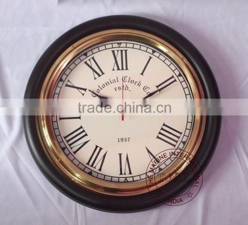 CLOCK - WALL CLOCK - MDF WALL CLOCK - NAUTICAL CLOCK - MARINE WALL CLOCK - SHIP CLOCK