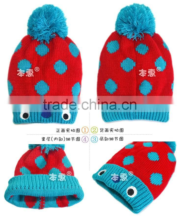 MZ3147 New winter Baby Boys Girls Toddler Crochet Cute Beanie Crown Knit cap hat