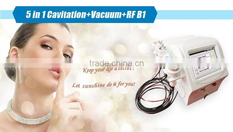 New portable 5 in 1 spa salon equipment for cavitation rf weight loss machine