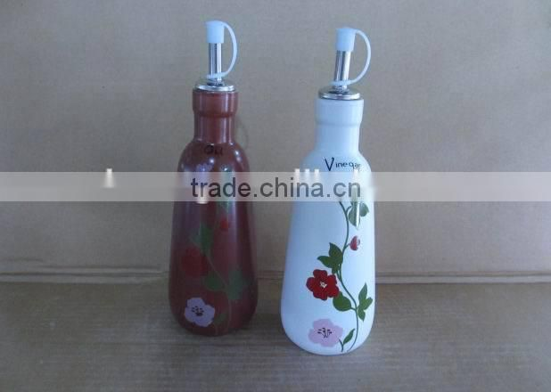 Whoesale ceramic salt pepper oil vinegar set