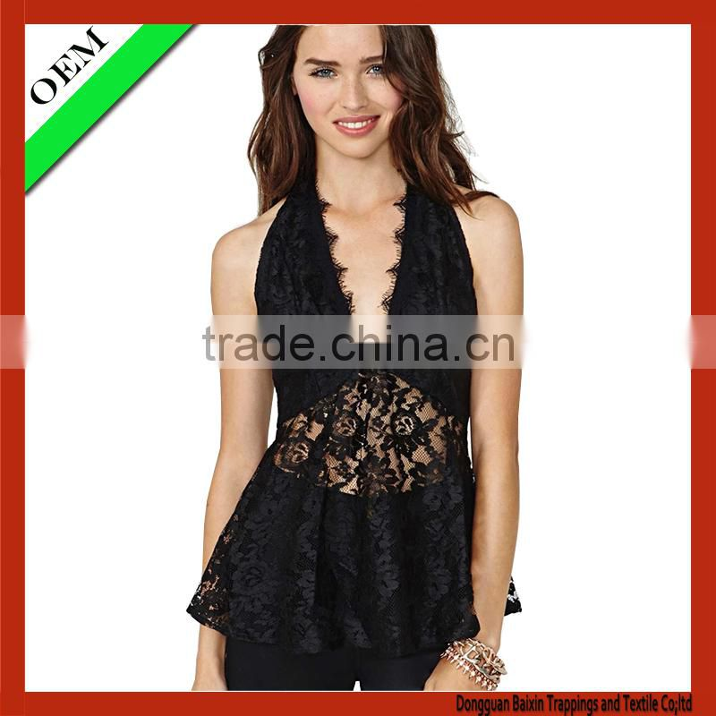2016 custom fashion women's clothing / ladies sexy tank top