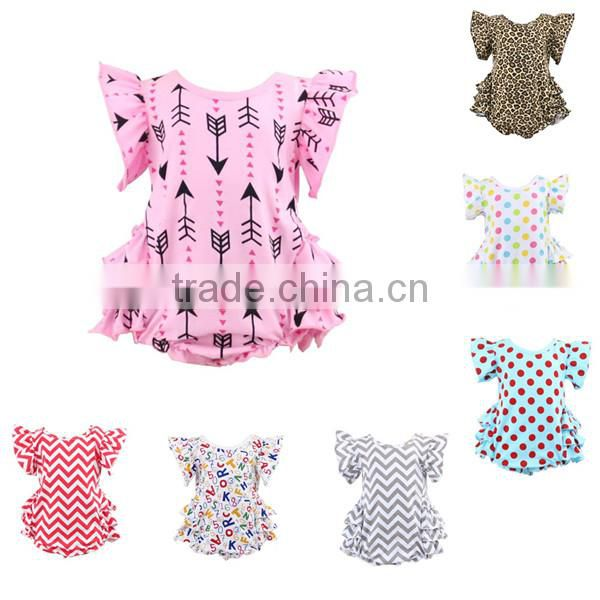 2017 bulk wholesale kids clothing one piece newborn baby girl clothes baby romper