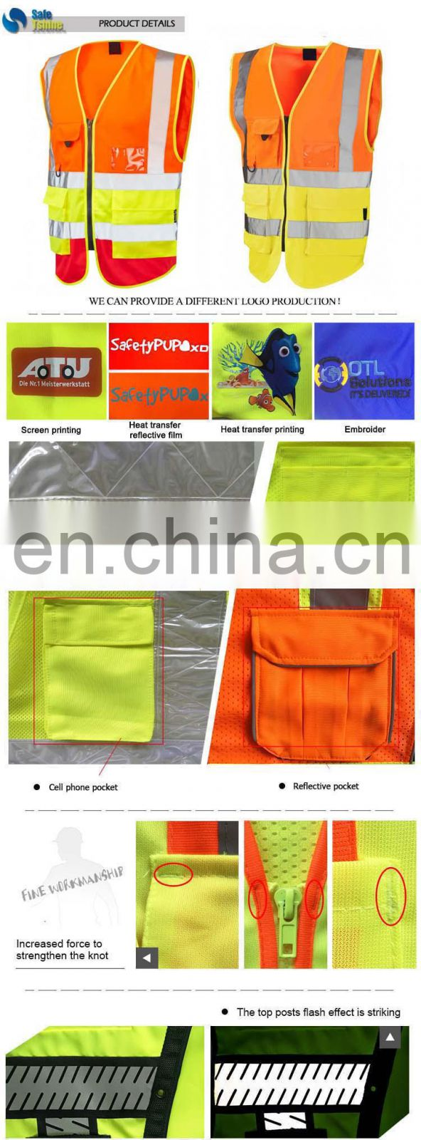 Guaranteed quality proper price breathable OEM service safety vest