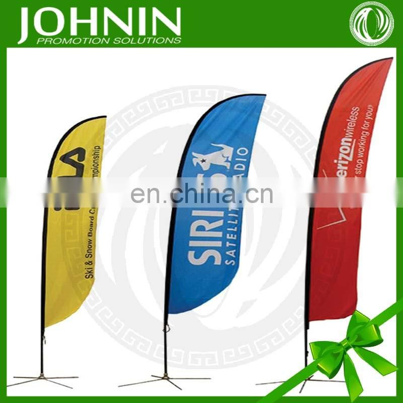High Quality Windproof Feather Teardrop Advertising Beach Flag