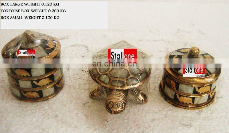 BRONZE TORTOISE BOX