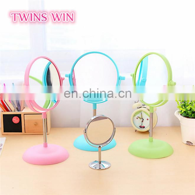 2018 hot buy bulk Cheap Custom High Quality home goods round shaped colorful plastic glass mirrors for living rooms