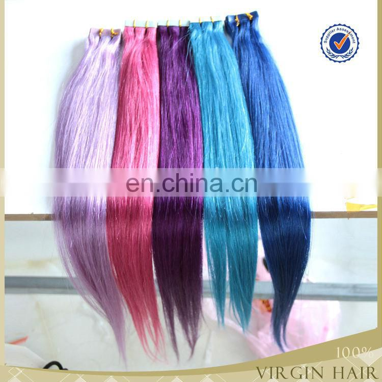 Top Grade hot sale indian remy tape hair extensions double sided cheap remy tape in hair extensions
