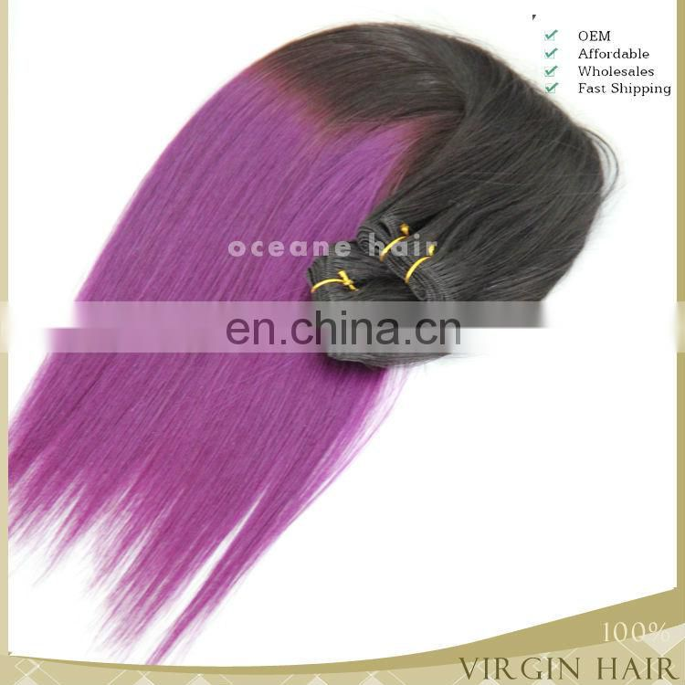 Wholesale grade 7A remy ombre color jumbo braiding hair