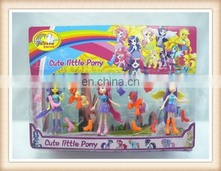 soft plastic lovely doll magic rubber horse toy