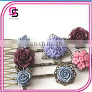 best supplier alloy hair pins with pearl korean street style