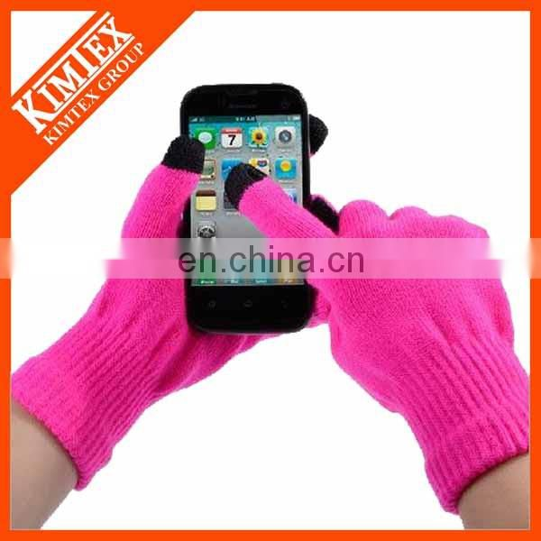 Promotional acrylic knit touch gloves